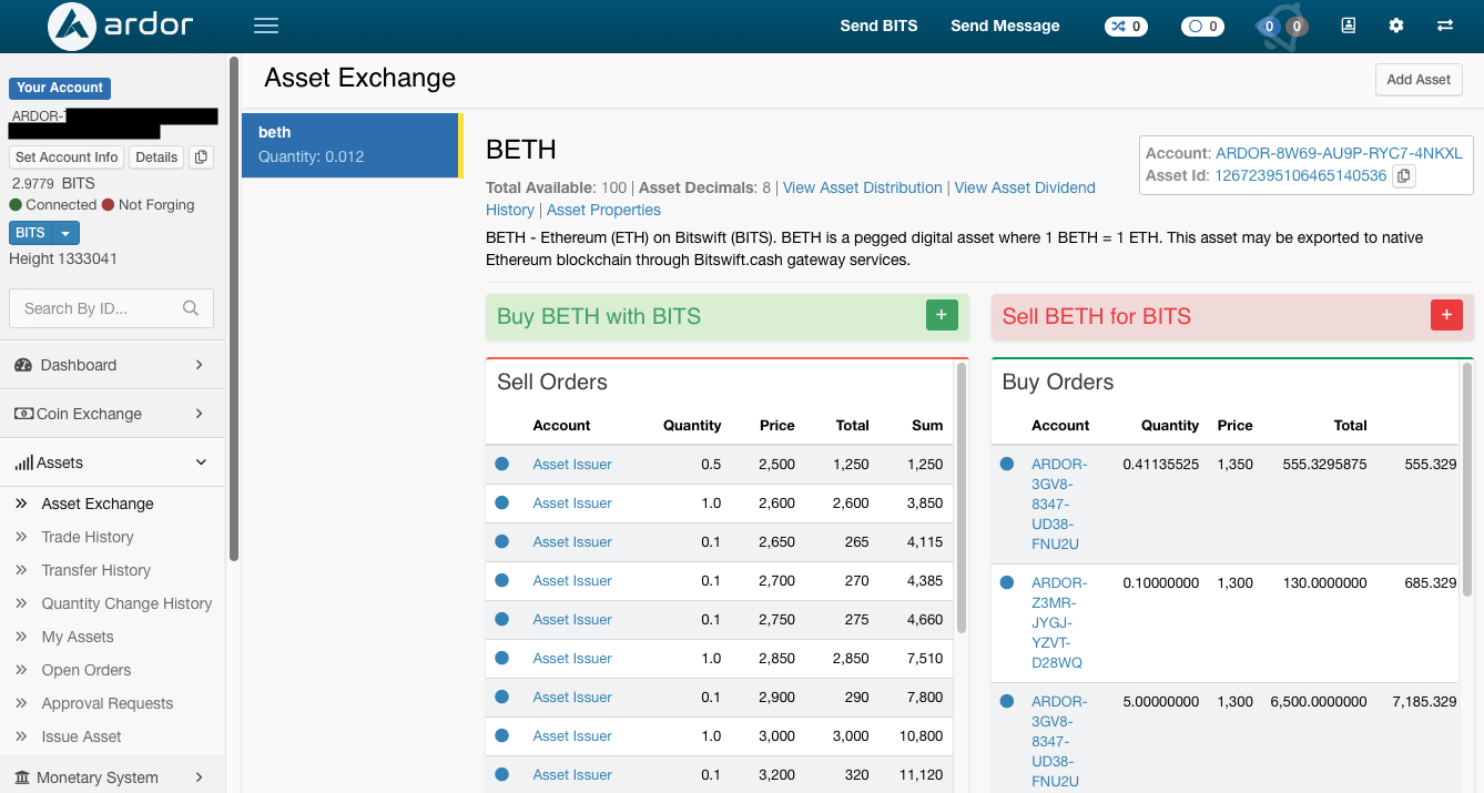 BETH Asset Exchange