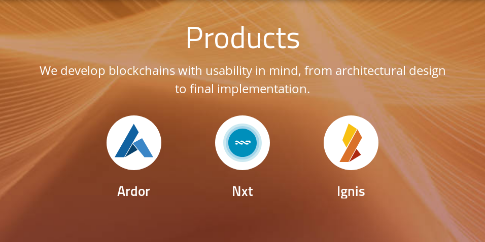 Ardor, Nxt and Ignis